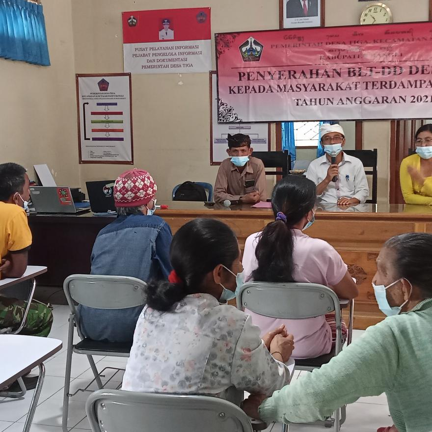 Bantuan Langsung Tunai Dana Desa Tahap VI Desa Tiga Tahun Anggaran 2021