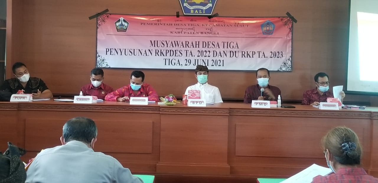 Musdes Penyusunan RKPDES TA. 2022 dan DU RKP TA. 2023 Desa Tiga