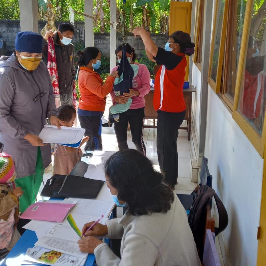 Pelaksanaan Posyandu di Banjar Pukuh